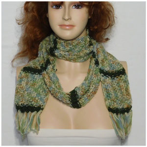 Scarf, multiple wrap around styles. Knit, soft